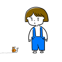 蝸牛と少女
