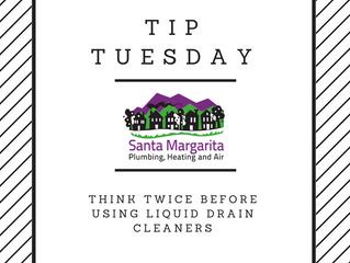 Tuesday Tip: AVOID liquid drain cleaners!