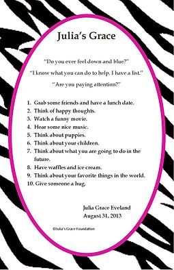 Julia's Grace List