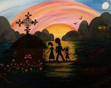 River Nile family portrait