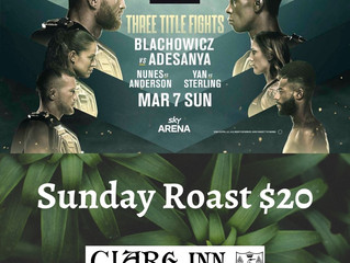 UFC live March 7th (Level 2)