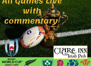 Rugby World Cup 2019 at The Clare Inn
