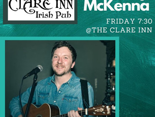 Paddy McKenna on stage Friday plus All Blacks Saturday