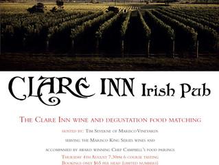 The Clare Inn Wine & Degustation Food Matching