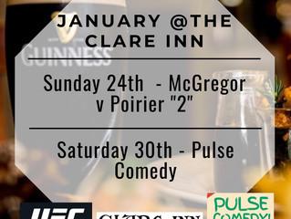 January @The Clare Inn