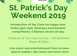 St Patrick's Day at The Clare Inn