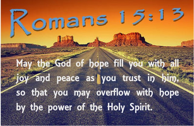 Romans 15 13 for wix