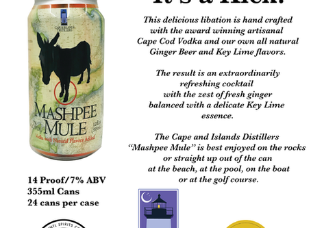 AstraLuna Brands and Cape and Islands Distillers introduces Mashpee Mule RTD