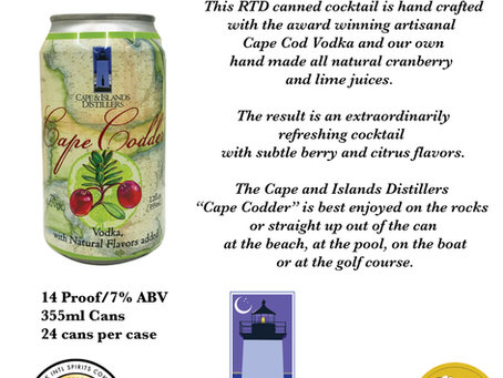AstraLuna Brands and Cape and Islands Distillers Introduce Cape Codder RTD