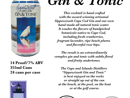 AstraLuna Brands and Cape and Islands Distillers introduce Sippewissett Gin & Tonic