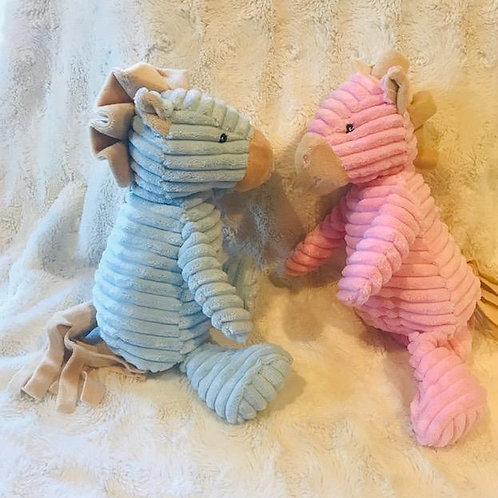 Soft Baby Horse Rattle in Pink or Blue