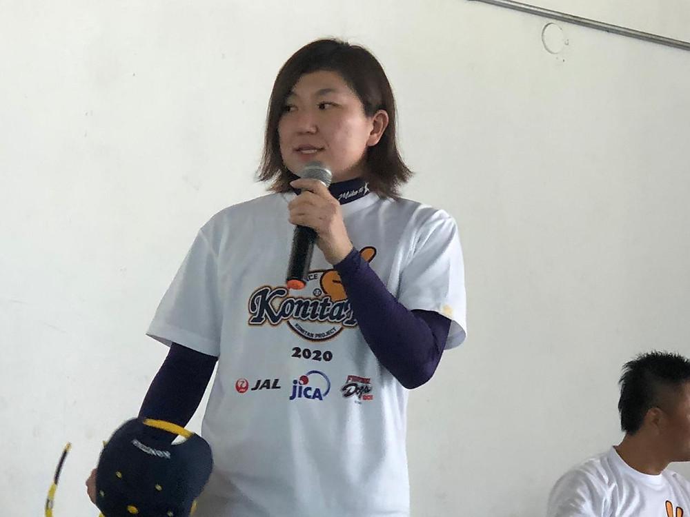 Mika Konishi, lenda da Liga de Beisebol Feminina do Japão