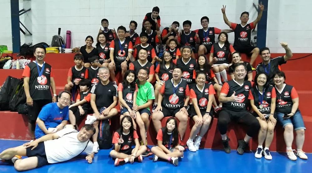 Badminton Nippon presente em peso no 1º Regional, em Itapeti
