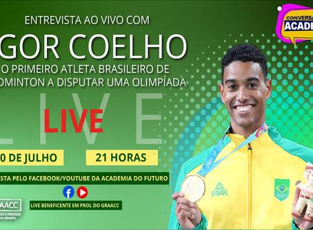 Hoje, entrevista com Ygor Coelho. 1º atleta brasileiro de badminton a disputar uma olimpíada