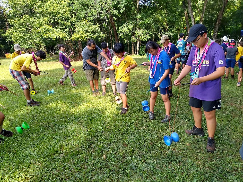 Durante o JamCam os jovens realizaram diversas atividades