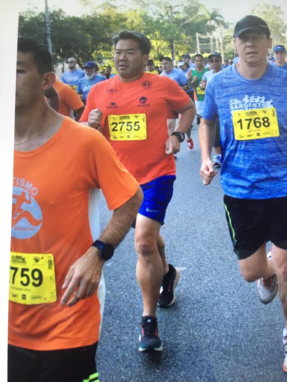 Atletas do Nippon que participaram da Corrida Sargento Gonzaguinha 2019