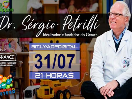 Dr. Antonio Sérgio Petrilli, cofundador do GRAAC, na live da Academia.