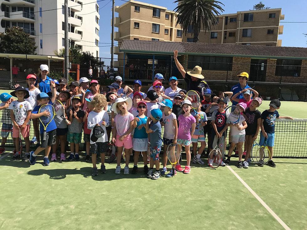 Happy Kids at School Holiday Camp, Port Macquarie Tennis Club