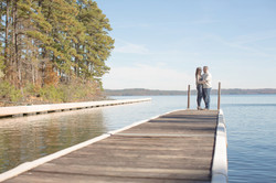 On the dock of the bay in Arkansas Photographer Engagement photo Best Engagement photo