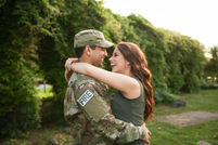 ARMY Uniform Caroline M Holt Engagement Photographer in Central Arkansas
