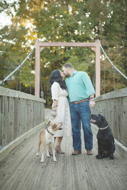 Caroline M Holt Photographer couple with dogs engagement sessions with dogs