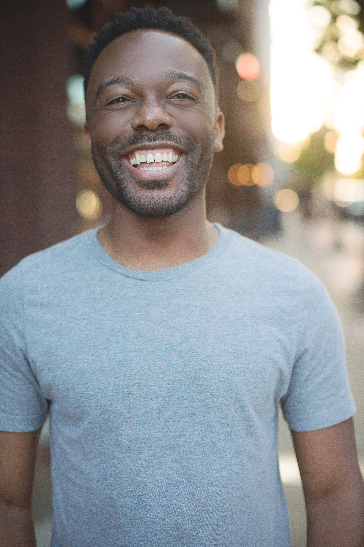 Actors headshot head shot laughing black man beautiful and happy beautiful smile