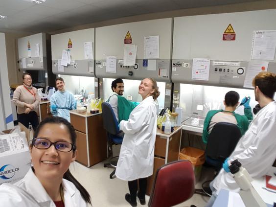 Tha laponite team taking over the lab