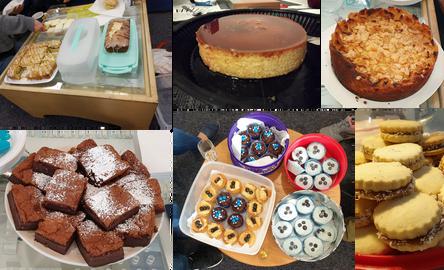 Homemade treats courtesy of B&J members