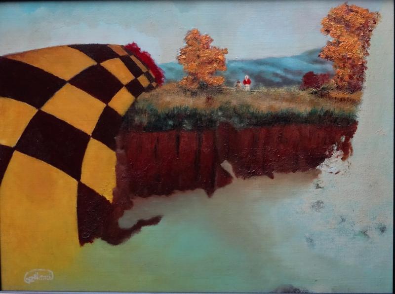 Tableau de 30cm x 40cm  peint à l'huile en fin 1986. Je l'ai composé en ayant à l'esprit les considérations et les péoccupations...