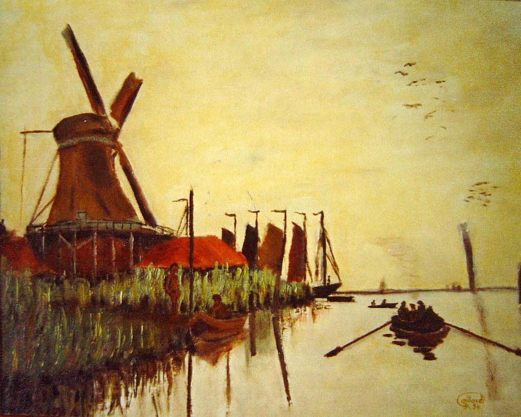 Barque au moulin