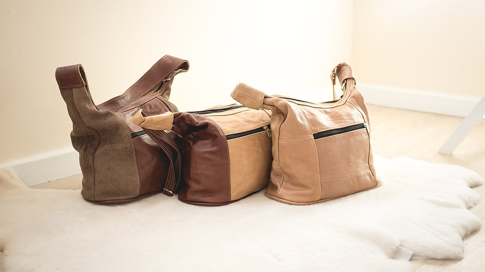 Leather bags various colours