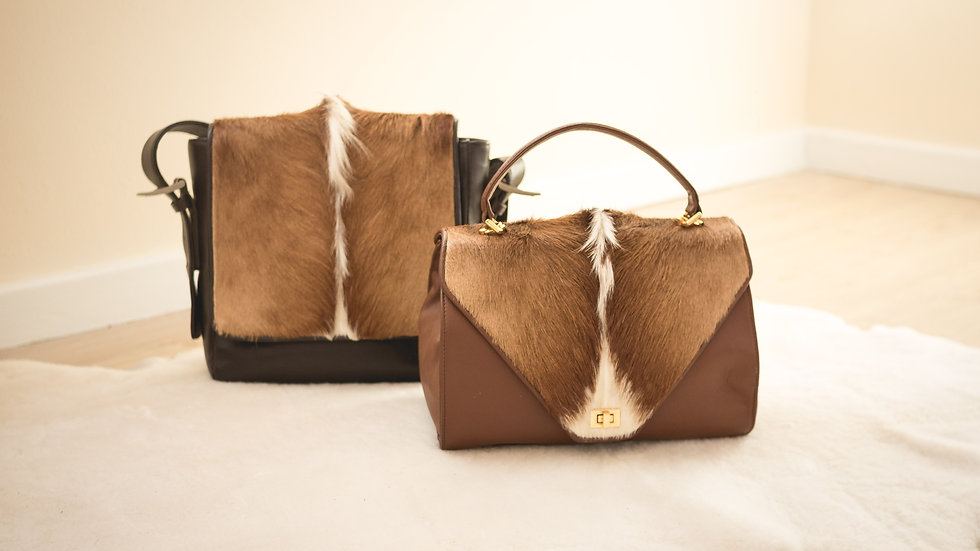 Hair on Springbok bags