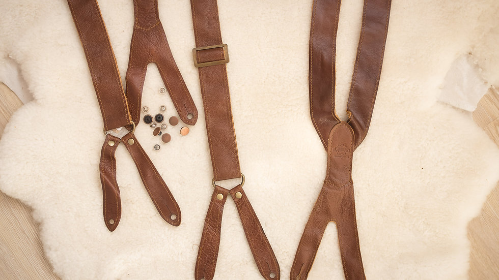 Vintage suspenders with buttons various sizes
