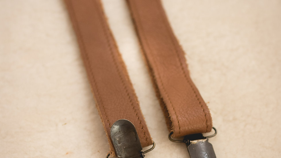 Basic suspenders with clips, various sizes.