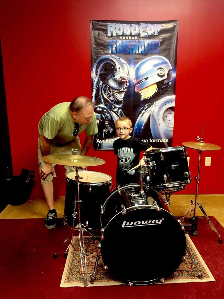 Brian and Drum Student