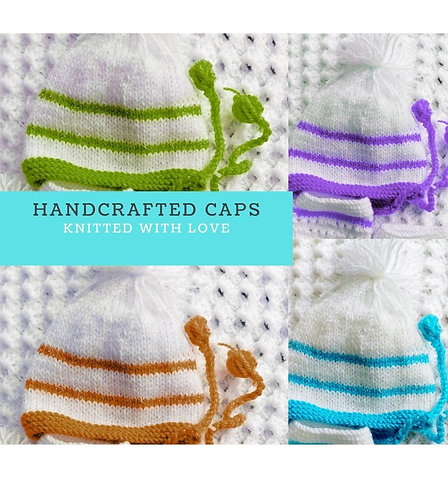 Infants Hand-knitted Woollen Caps