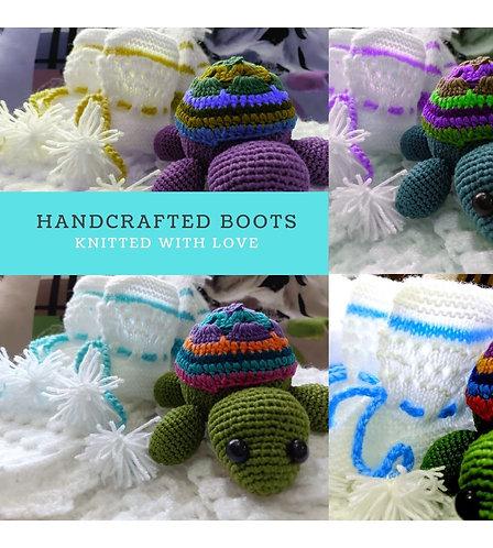 Infants Hand-knitted Woollen Booties