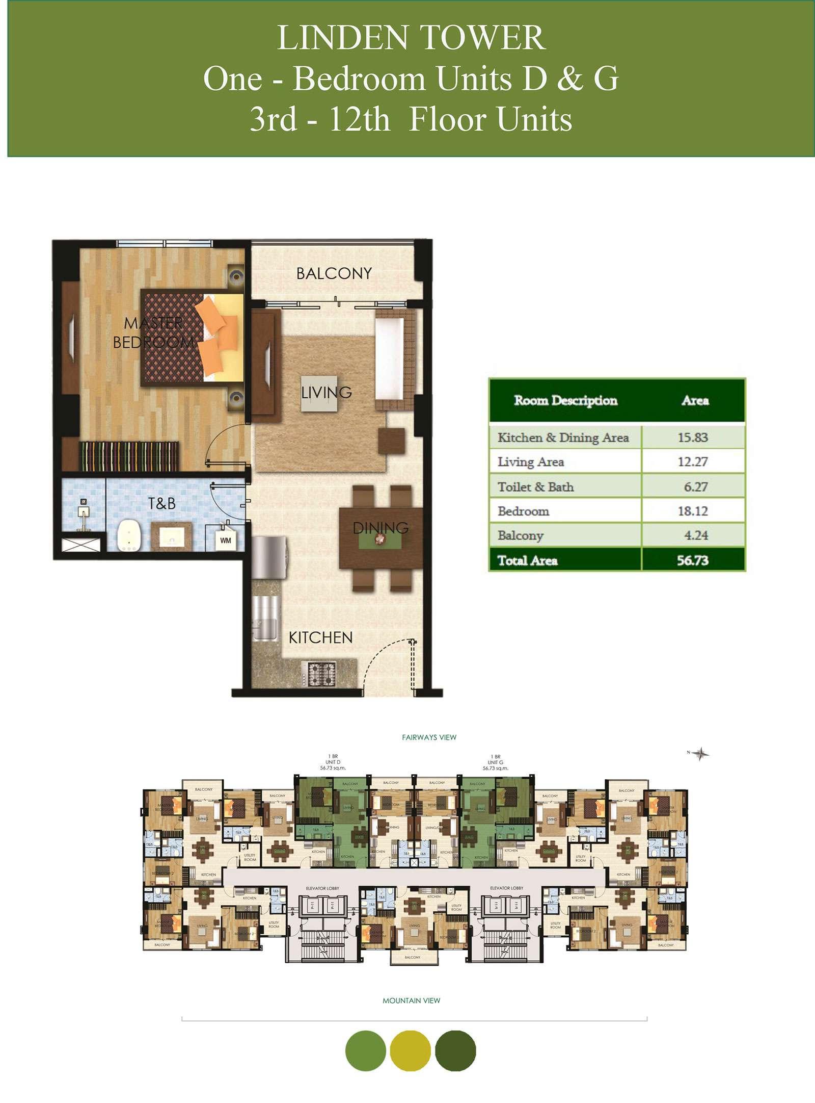 1 Bedroom Units D & G