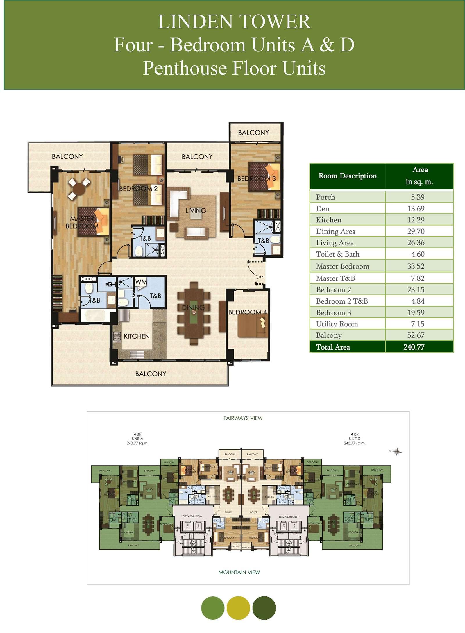 4 Bedroom Units A & D