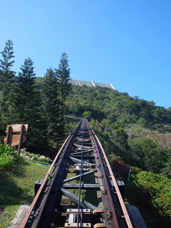 Funicular Train Railway Going Up From Midlands Golf