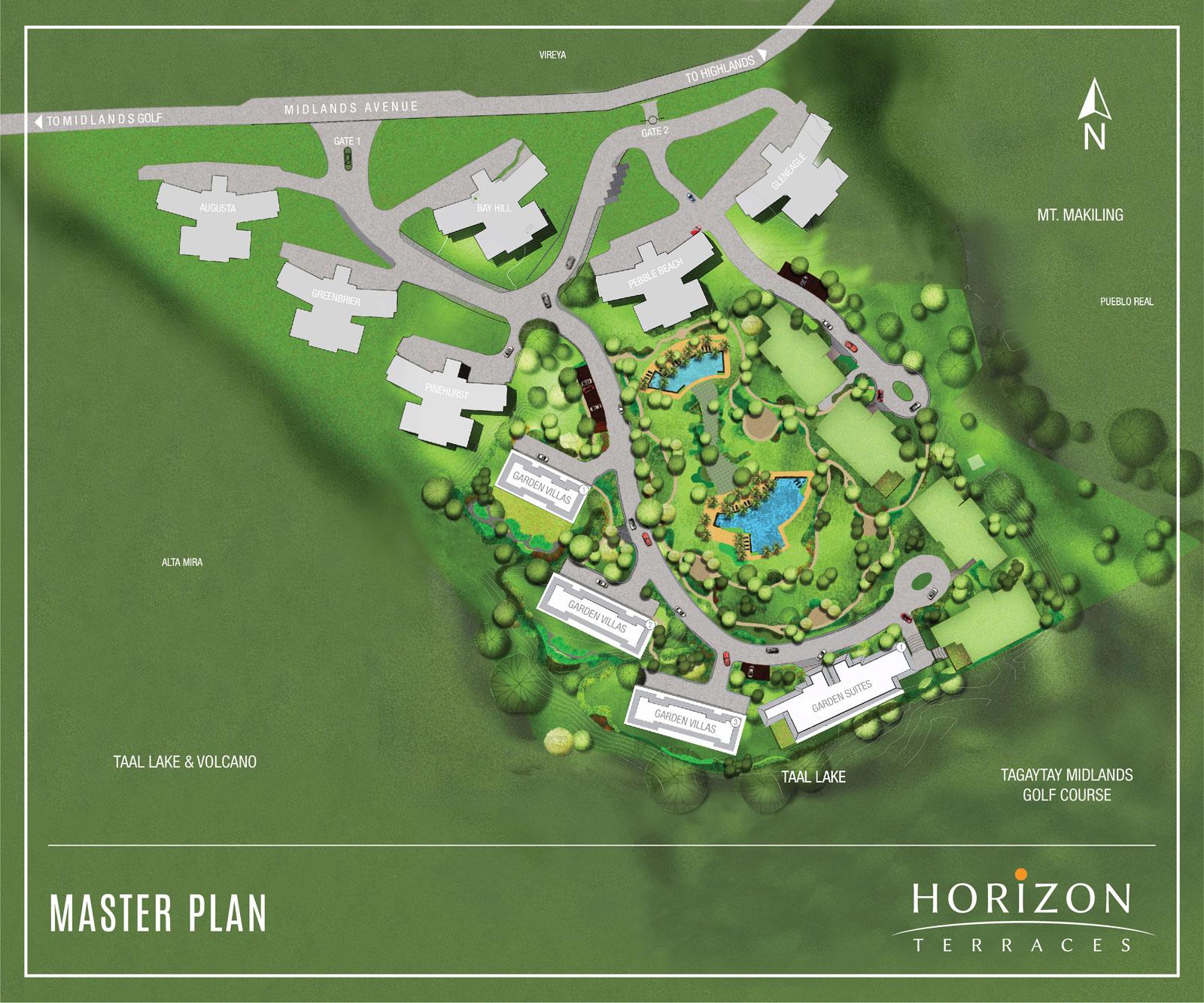 Horizon Terraces, Master Plan