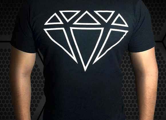 Playera Negra Diamond Anabolics Logo