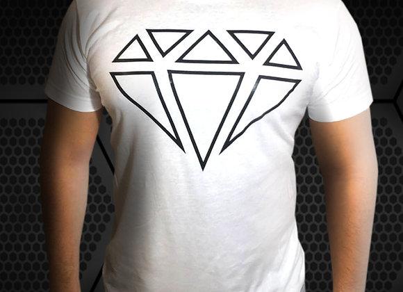 Playera Blanca Diamond Anabolics Logo