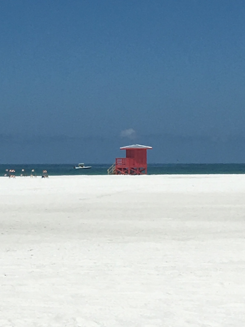 Red Life guard stand