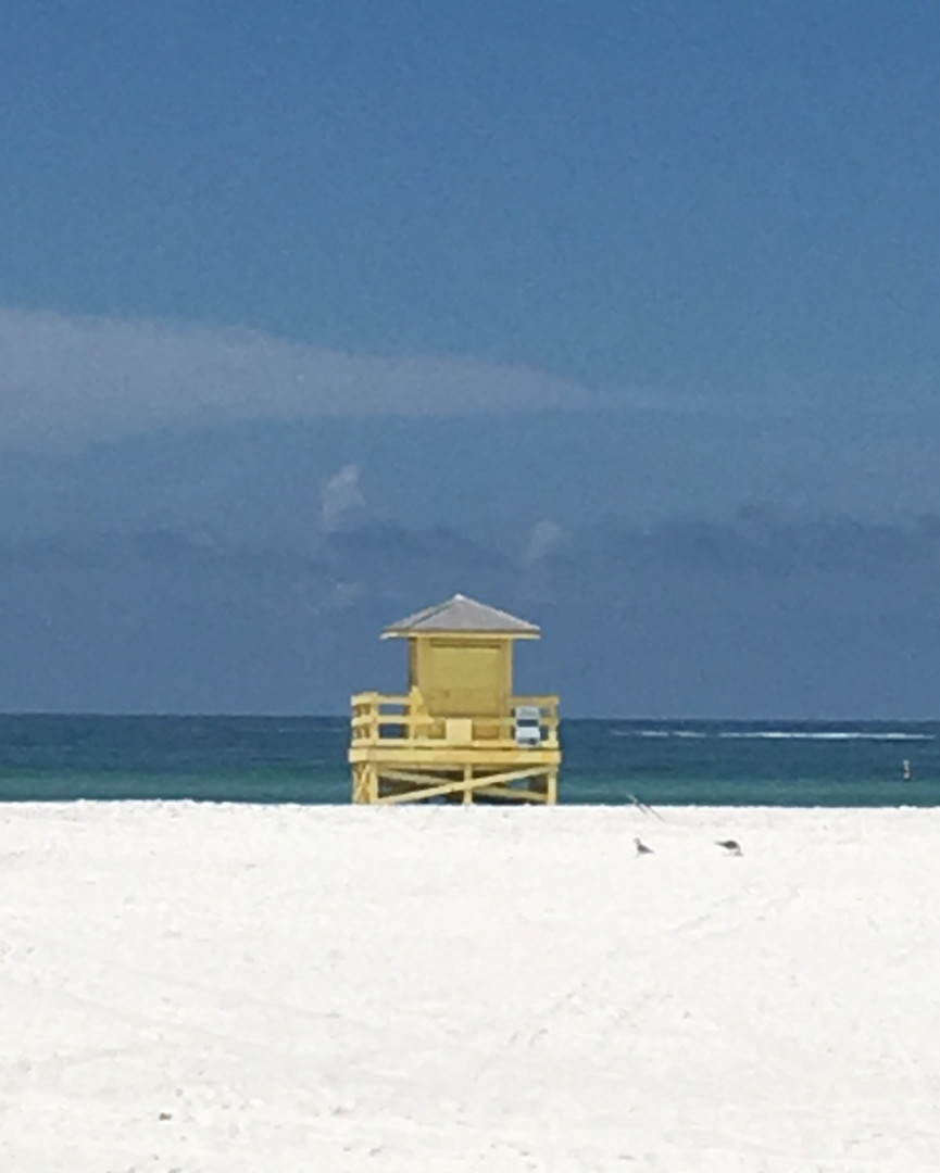 Yellow Life guard stand
