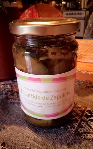 Encurtido de Zapallito Italiano