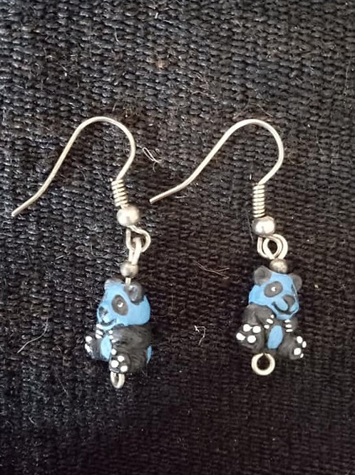 Aretes de Panda Azul