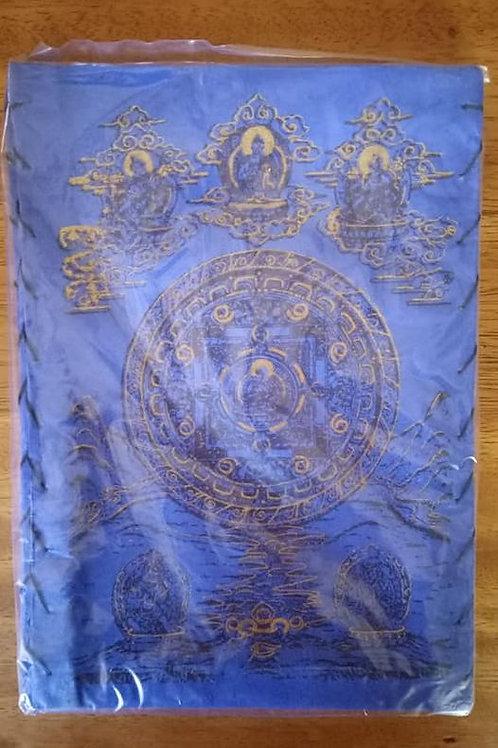 Pantalla de Lampara Papel Lokta Azul con Mandala