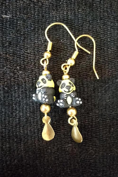 Aretes de Panda Amarillo