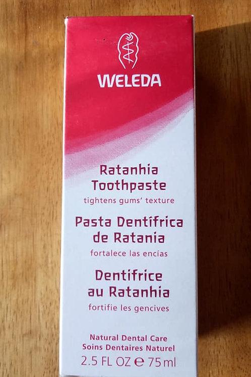 Pasta Dentrifica de Ratania Weleda